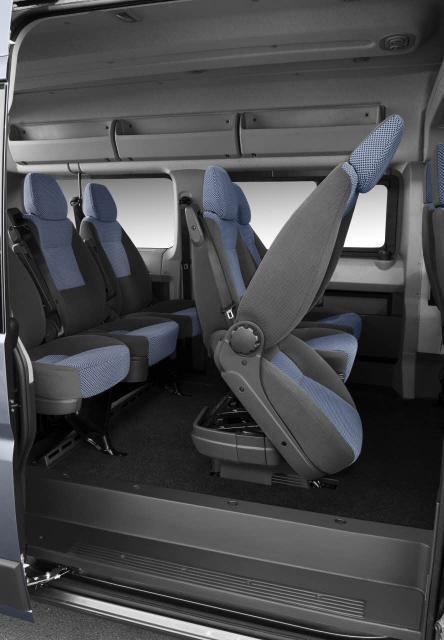 Citroen Jumper 9-miestny bus - nastupovanie