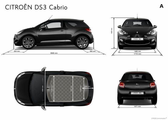 DS3 Cabrio rozmery