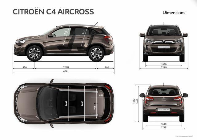 Citroen C4 Aircross - rozmery